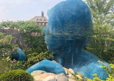 Gardengigs-VARIOUS-GARDENS-Chelsea-Flower-Show-Blue-Statue