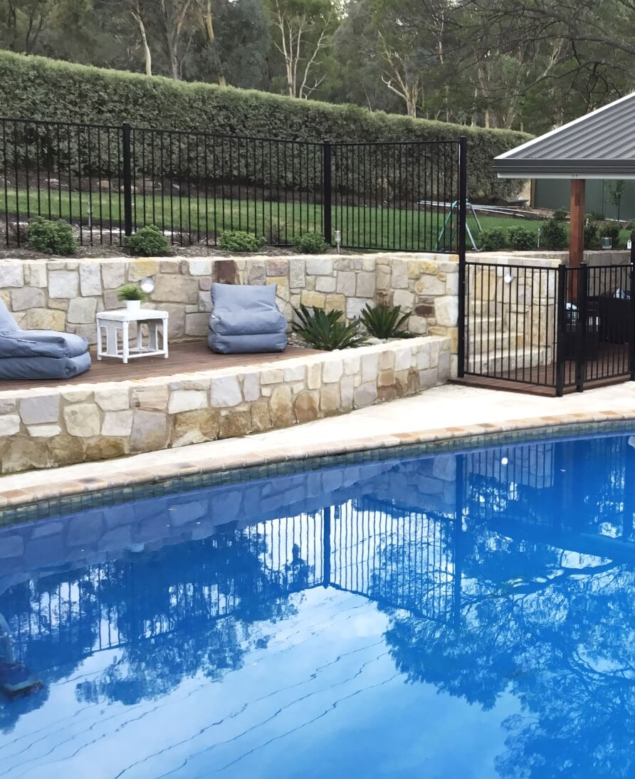 Gardengigs Garden Landscape Construction Latest Work - Garden and Architectural Design Beside Pool