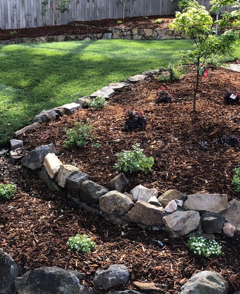Gardengigs Gardening Designers Canberra Services - Mulch and Layered Garden in Progress